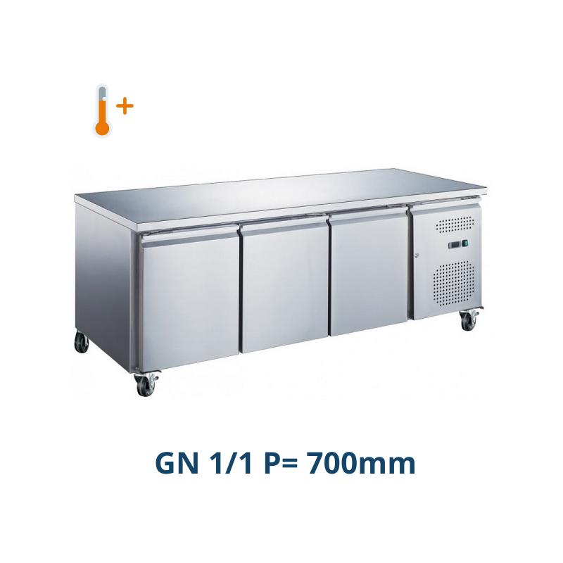 Table desserte positive centrale 3 portes GN 1/1