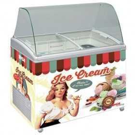 Vitrine à crèmes glacées rétro