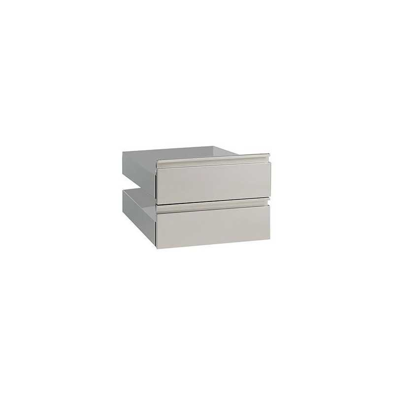 Kit 2 tiroirs pour soubassement largeur 300 mm Modular 600