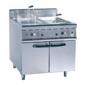 Friteuse professionnelle gaz sur coffre 2 x 20 litres