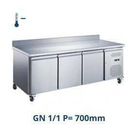 Desserte réfrigérée négative avec dosseret 3 portes GN 1/1