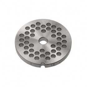 GRILLE INOX HACHOIR simple coupe ø 70 mm N°12 - trous 18 mm