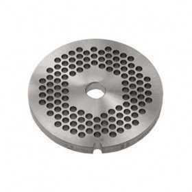 GRILLE INOX HACHOIR simple coupe ø 100 mm - trous 20 mm