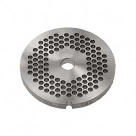 GRILLE INOX HACHOIR simple coupe ø 100 mm N°32 - trous 8 mm