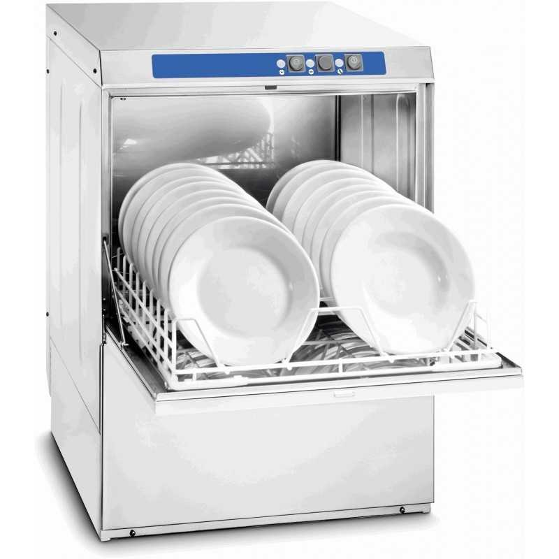 Lave-vaisselle professionnel avec adoucisseur et pompe de vidange 500 CASSELIN